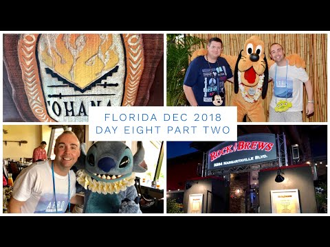 Walt Disney World & Florida Vlog - Dec 2018 - Day 8 - Pt 2 - Ohana Breakfast & Rock n Brew