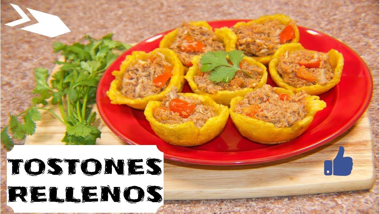 COMO HACER TOSTONES RELLENOS │ TOSTONES RELLENOS DE CANGREJO │ TOSTONES  RELLENOS - YouTube