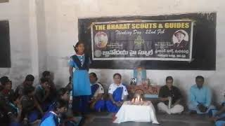 """Bharath Scouts& Guides of GNANODAYA SCHOOL  Celebrating """"THINKING DAY"""""""