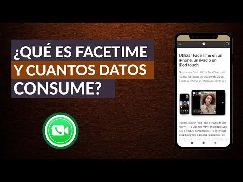 Qué es Facetime - Cuantos Datos Consume o Gasta ¿Es Gratis?