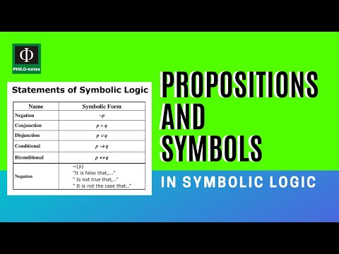 Propositions and Symbols Used in Symbolic Logic - PHILO-notes Daily Whiteboard