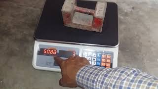 35 kg Weighing Scale Calibration   ACS Weighing Scale   English subtitles