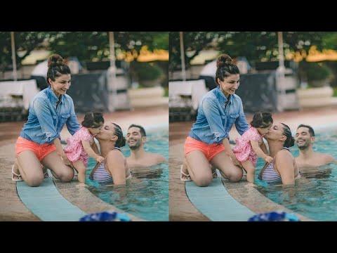 Innaya cute moments with neha dhupia and mother sohali khan and krunal khemu