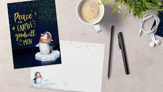 How to Design a Sweet, Illustrated Holiday Postcard in Photoshop
