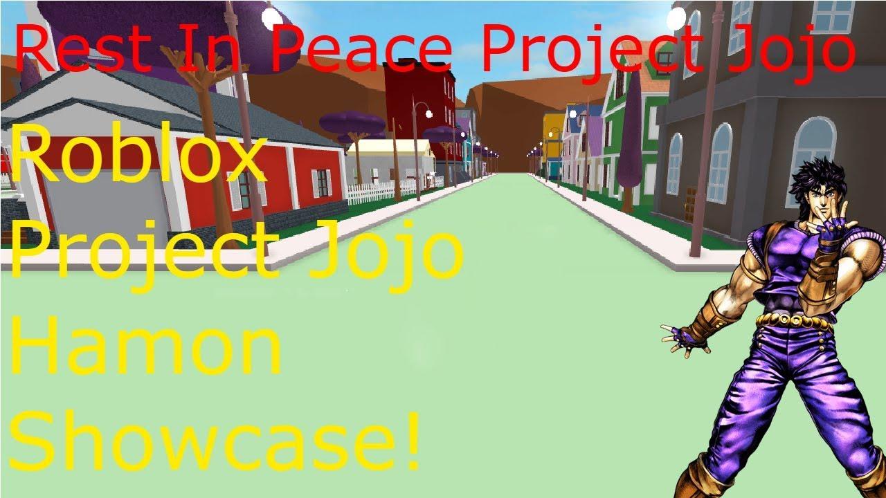Roblox Project Jojo Hamon Showcase!