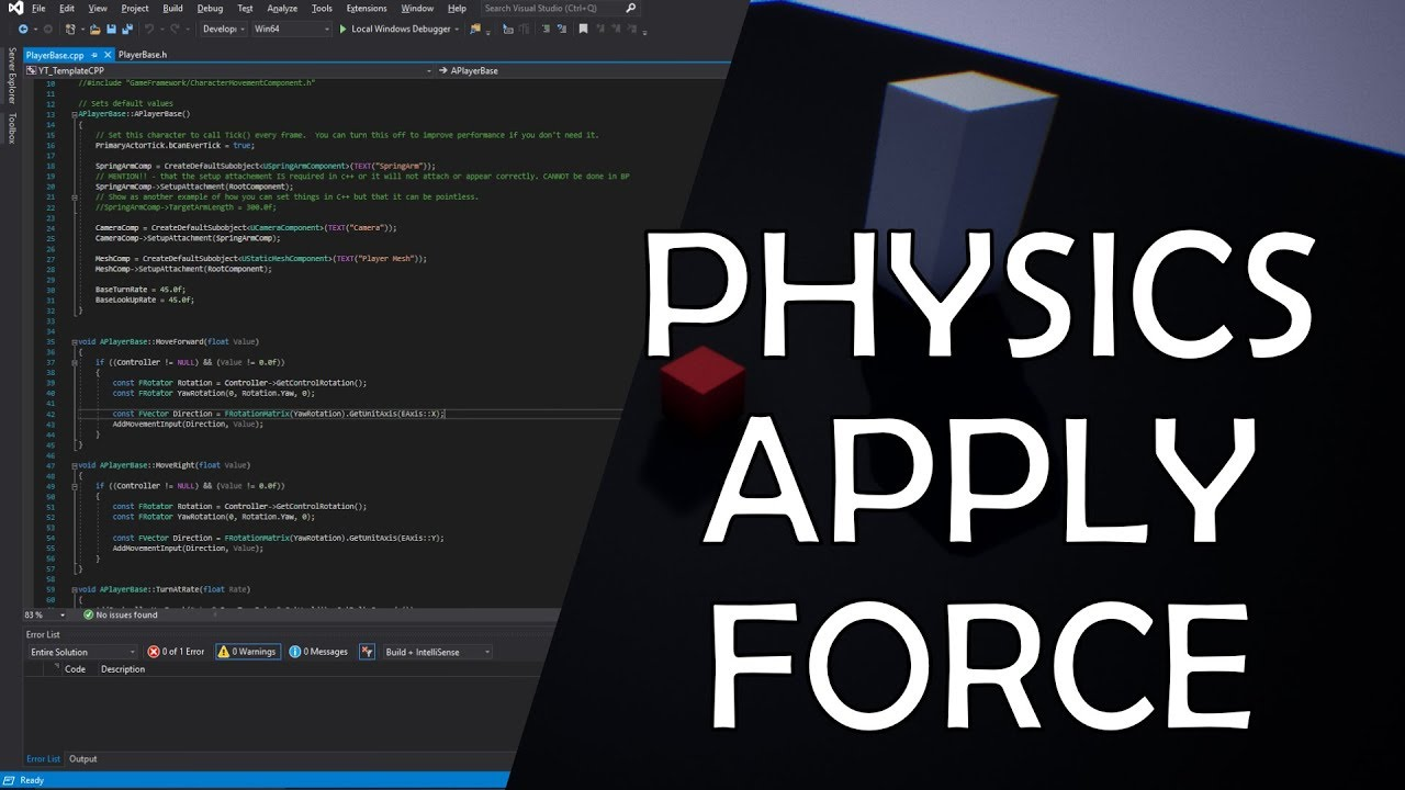 C++ Physics Force UE4 / Unreal Engine 4 C++