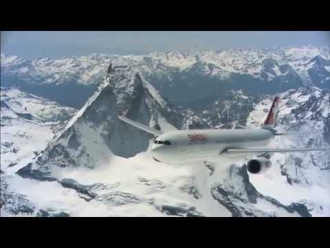 Swiss Flying over the Alps