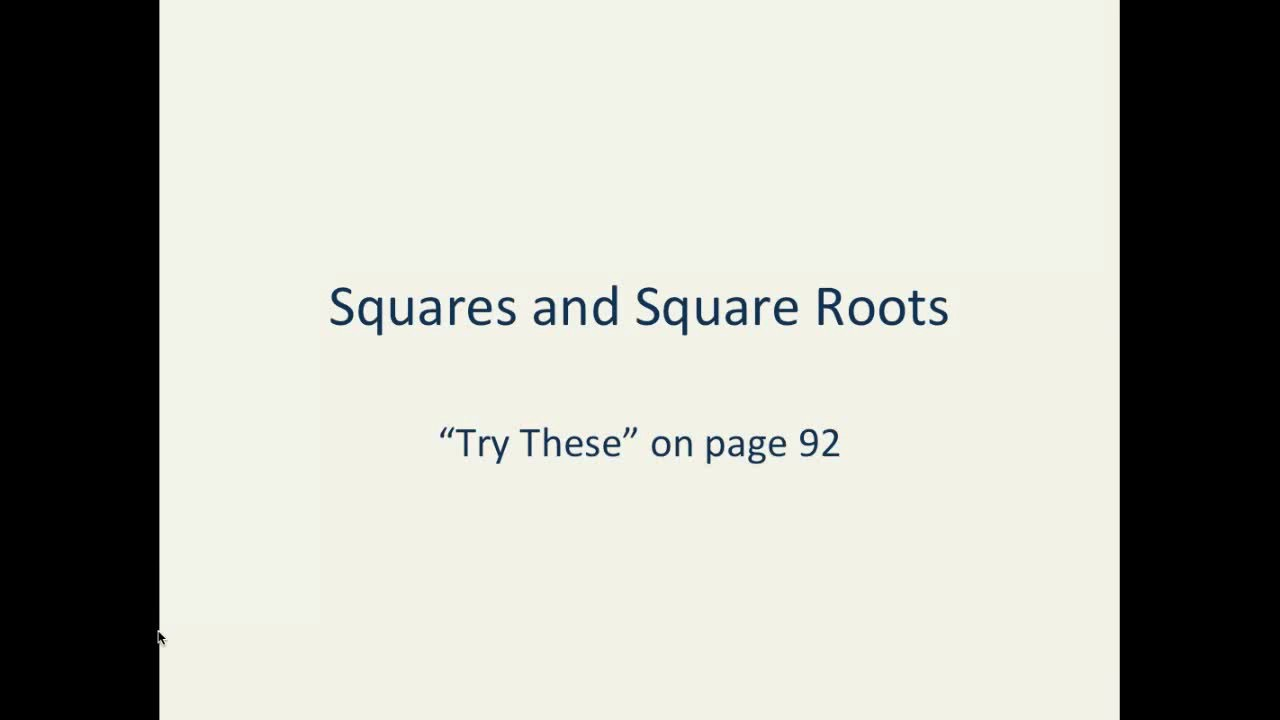 Math :: NCERT :: Class 8 :: Ch 6 :: Squares and Square Roots :: Page 92 ::  Try These