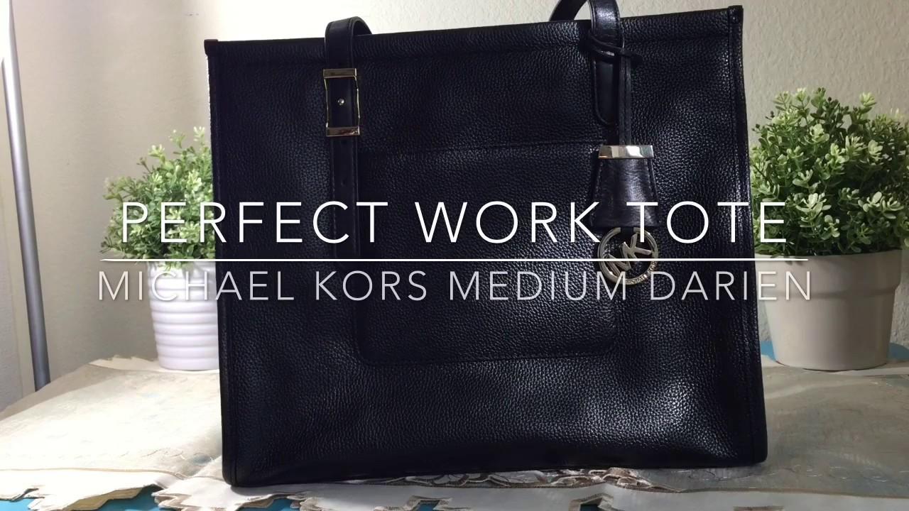a01ef33c7857 Perfect Work Tote Series - MICHAEL KORS Medium Darien Handbag - YouTube