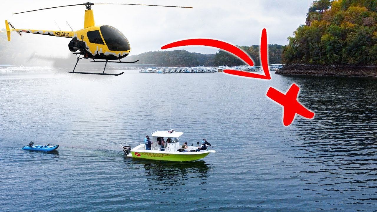 Missing: R22 HELICOPTER CRASHED 115' Underwater in Lake!