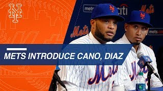 Mets introduce Robinson Cano and Edwin Diaz at press conference