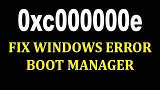How to Fix 0xc000000e Windows failed to start | Как исправить ошибку 0xc000000e