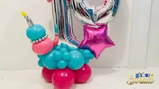 Como realizar un pastelito con globos 🎈