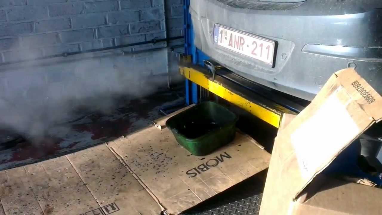 Roetfilter reinigen met hogedrukreiniger