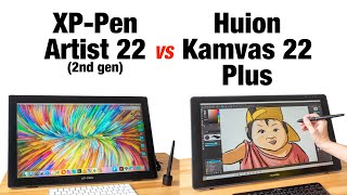 XP Pen Artist 22 vs Huion Kamvas 22 Plus