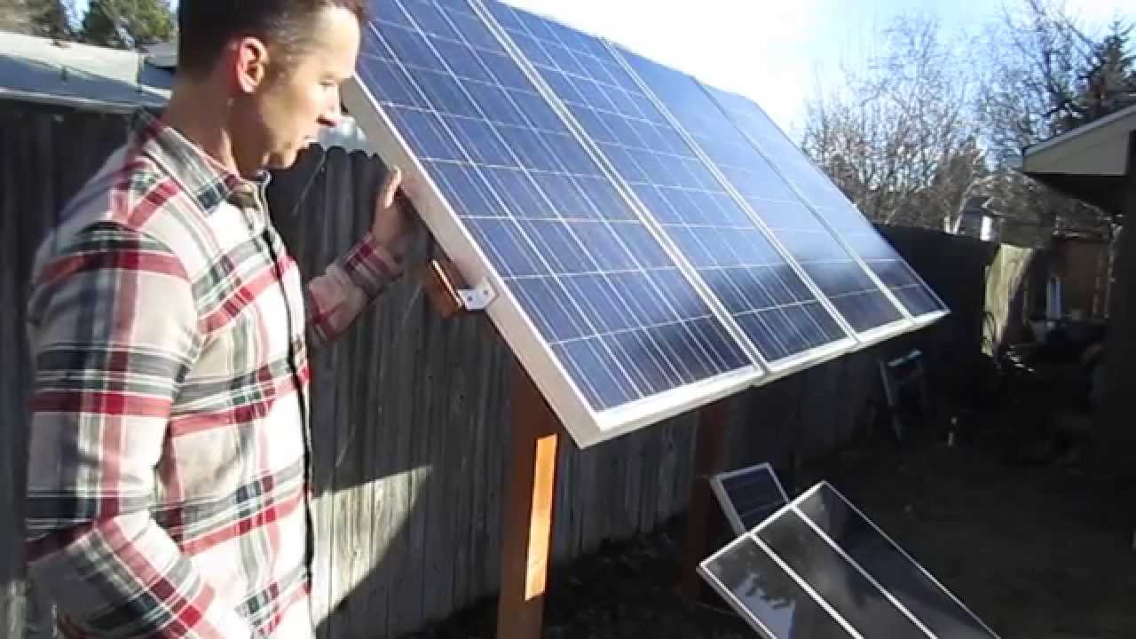 Backyard Solar Panel Rack Youtube