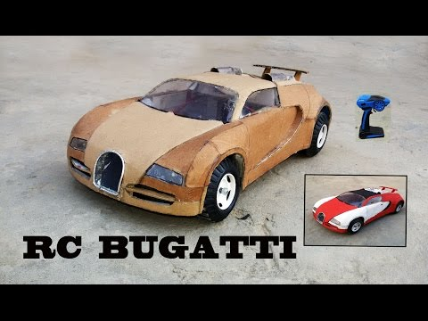WOW! Super RC Bugatti Veyron || DIY at Home || Cardboard Bugatti || How to make Electric Toy Car
