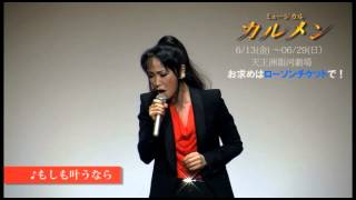 ミュージカル『カルメン』出演の濱田めぐみが歌声を披露!