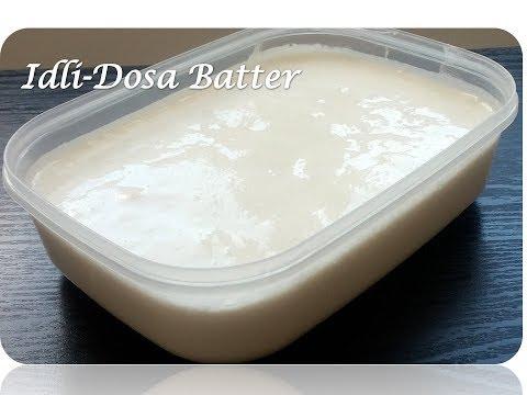 Homemade Idli Dosa Uttapam Batter Recipe   How To Make Perfect Idli-Dosa Batter In Most Easiest Way