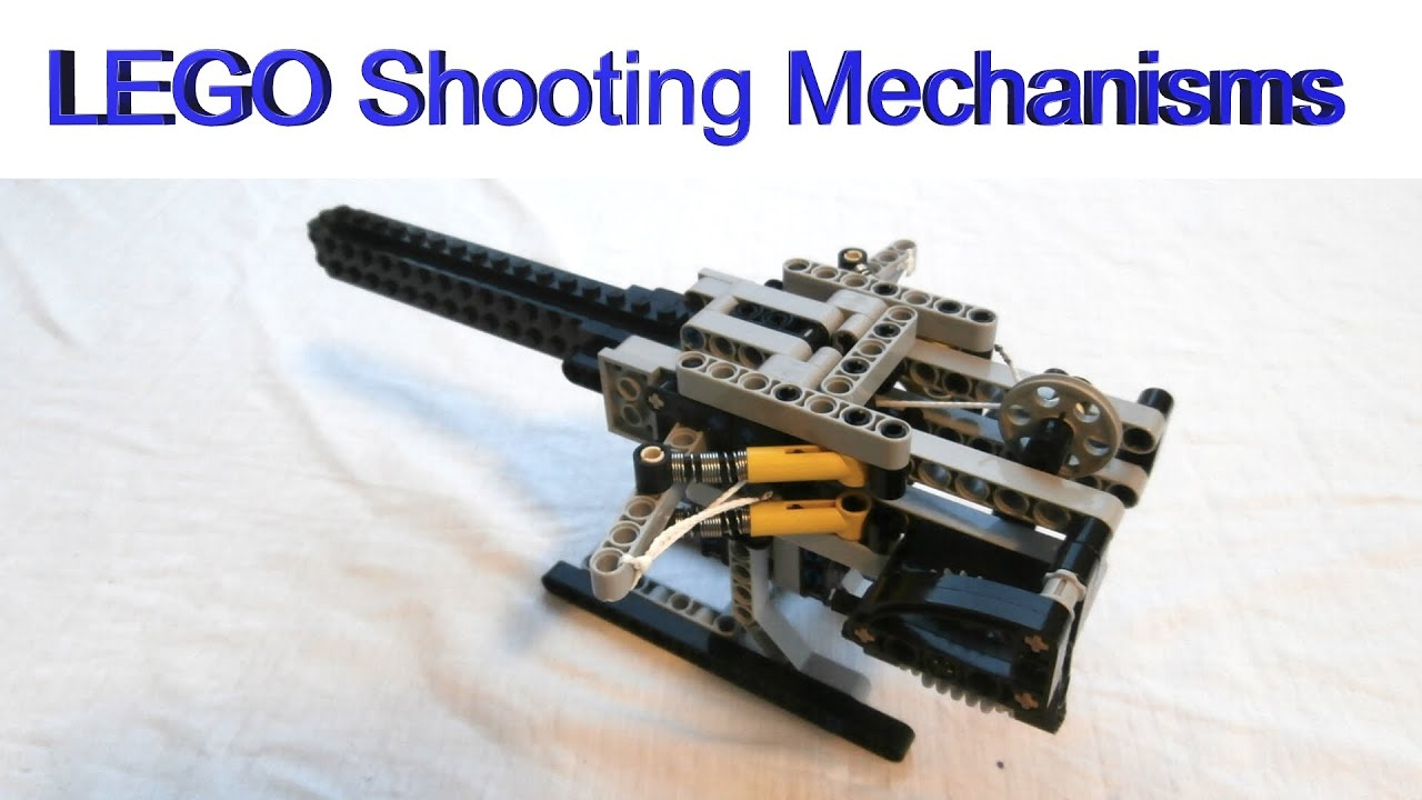 How to build LEGO shooting mechanisms - YouTube