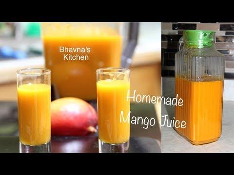 Homemade Mango Juice Video Recipe | No added Sugar  | Bhavna's Kitchen