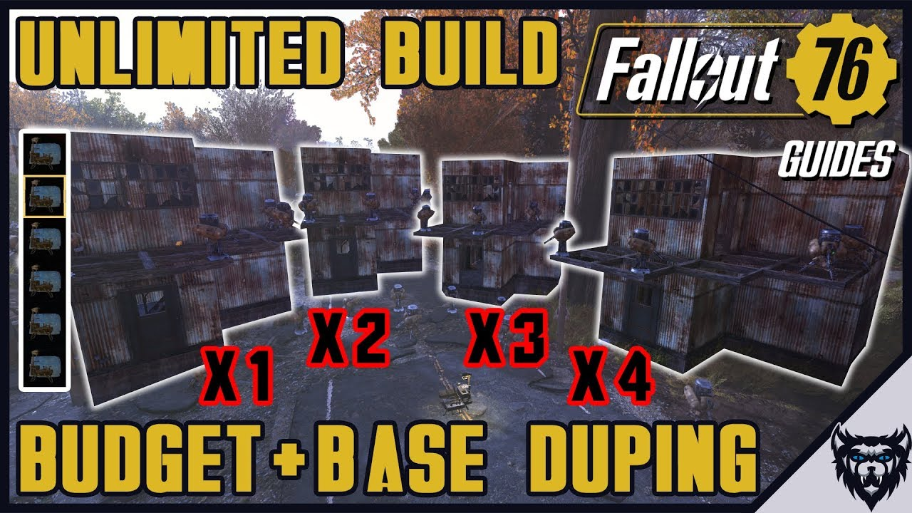 Fallout 76 - Unlimited Build Budget & Base Duplication Glitch Guide  (PATCHED)