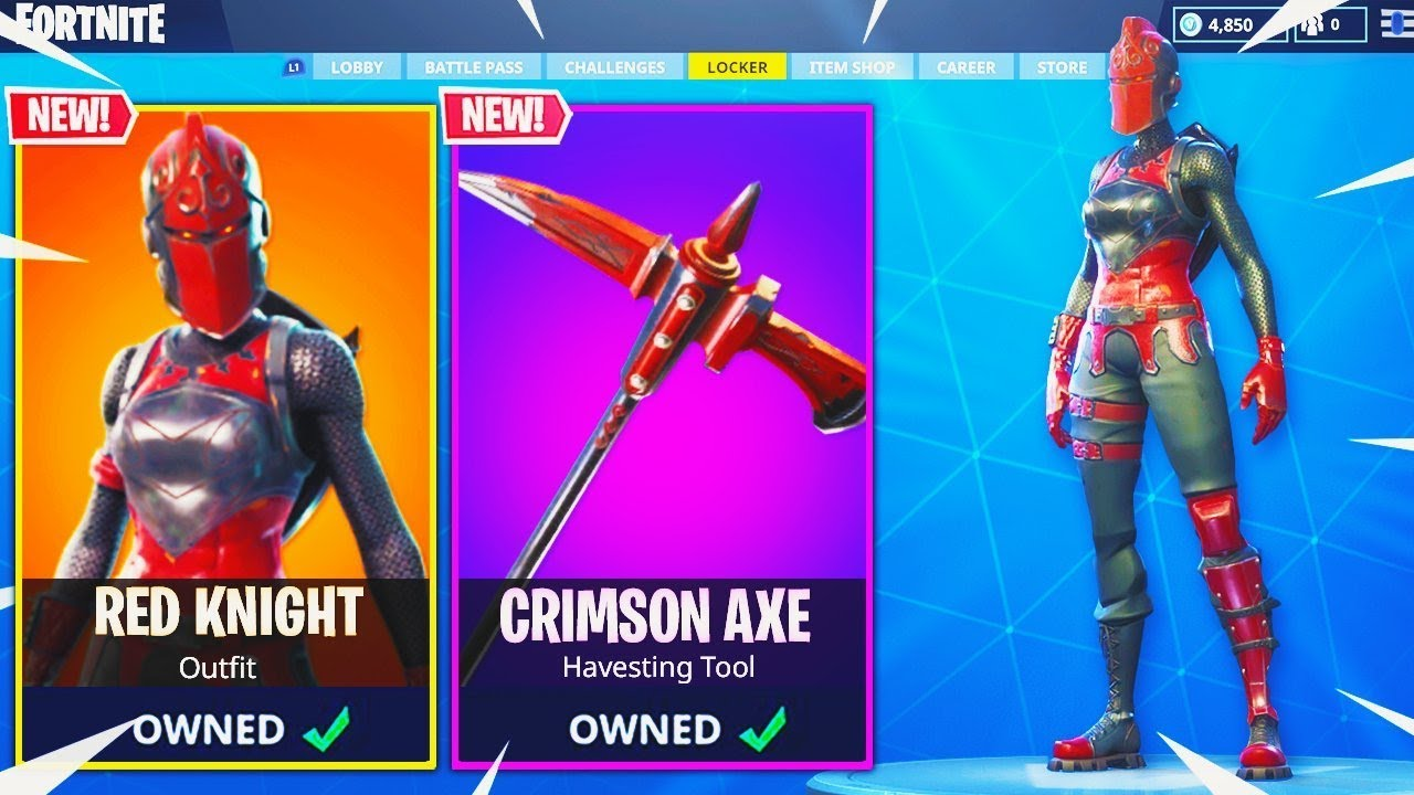 The Red Knight Returns In Fortnite Battle Royale Confirmed