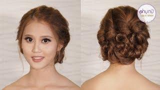 Hướng dẫn tết tóc xoăn bới lên - đơn giản và thanh lịch | Mẹo Làm Đẹp | Phụ Nữ và Gia Đình