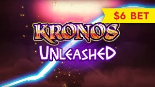 Kronos Unleashed Slot - NICE SESSION, ALL FEATURES - $6 Max Bet!