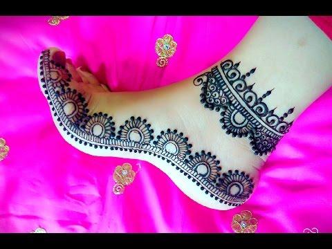 Feet Mehndi Design | Leg henna | Arabic Feets | DIY Henna 2017 - Naush Artistica