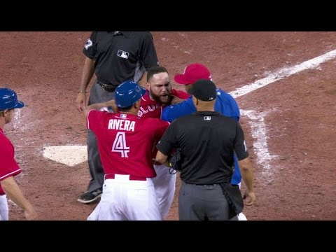 CLE@TOR: Martin ejected at the end of the 13th inning
