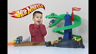 HOT WHEELS 2018 COBRA CRUSH playset,new toy cars for kids, race track kids videos