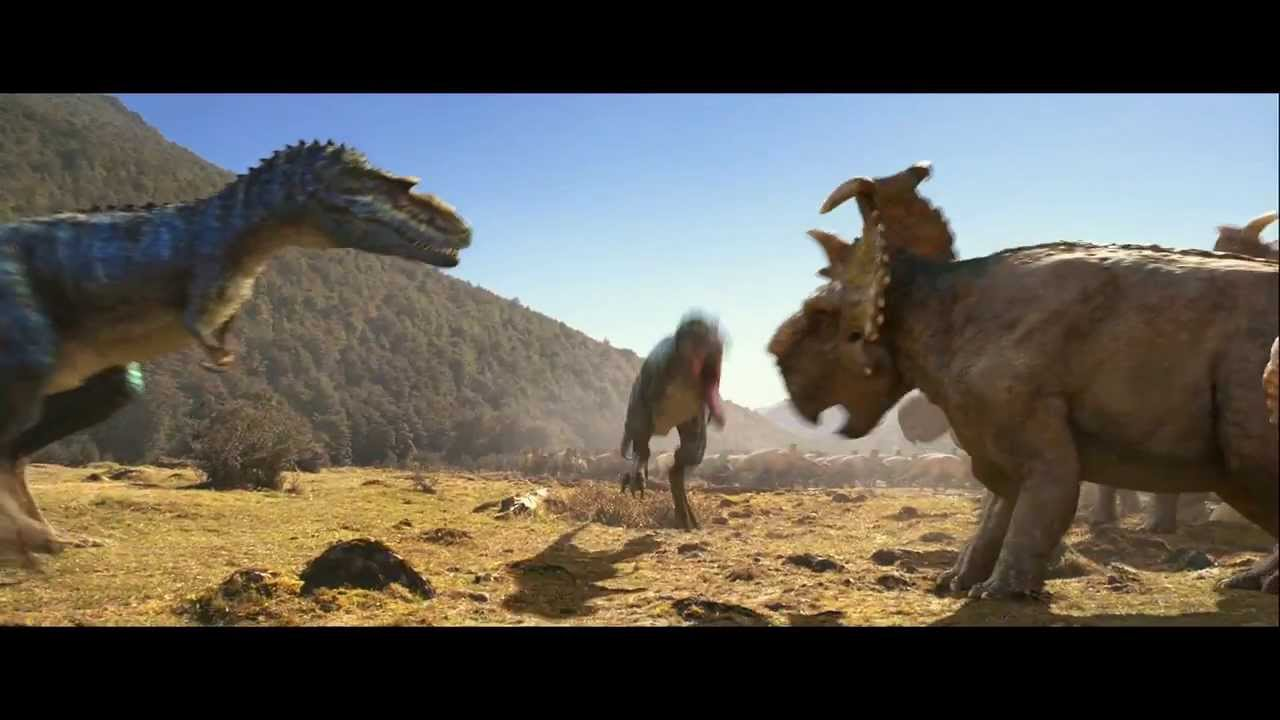3d Interactive Wallpaper Walking With Dinosaurs Clip Gorgosaurus Attacks Youtube