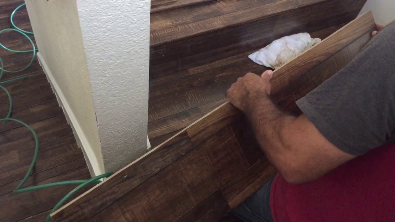 Stair Installation Of Laminate Flooring Youtube