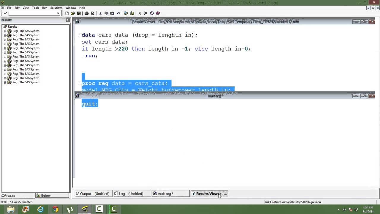 Using Dummy variable in Regression
