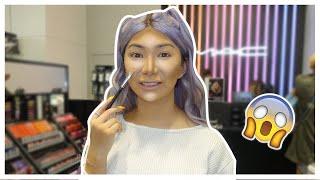 FULL FACE Using MAC Tester Makeup!? | Nikita Dragun