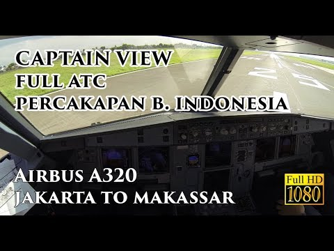 ( CAPTAIN VIEW ) Airbus A320 Jakarta To Makassar Night - By Vincent Raditya Batik Air Pilot