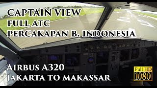 ( CAPTAIN VIEW ) Airbus A320 Jakarta to Makassar Night - by Vincent Raditya Batik Air Pilot