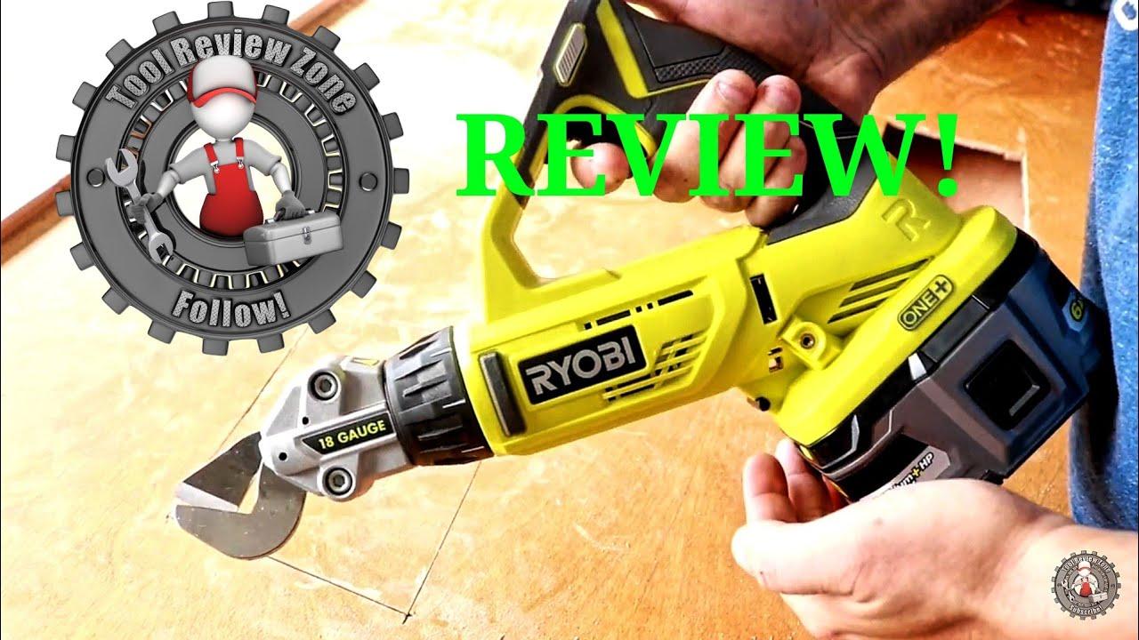 Ryobi Cutting Shears Review P591 Ryobi Cordless Metalwork Youtube