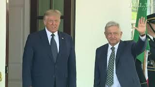 Mexican President Andrés Manuel López Obrador Arrives At The White House