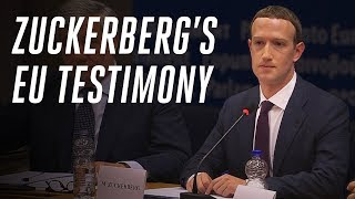 Zuckerberg's EU testimony: what he didn't answer