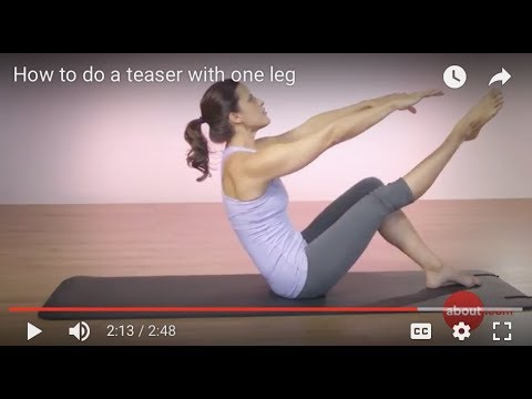 How to do a teaser with one leg
