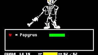【undertale】Disbelief PAPYRUS game