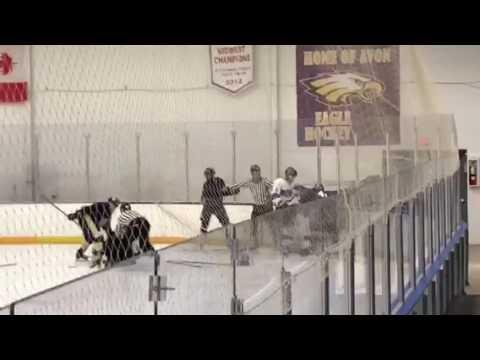 High School Hockey fight (Must See)