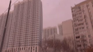 [Псв 29] Улицы Флотская, Смольная, московская окраина район Водного стадиона в Москве ЗИМОЙ ДНЁМ