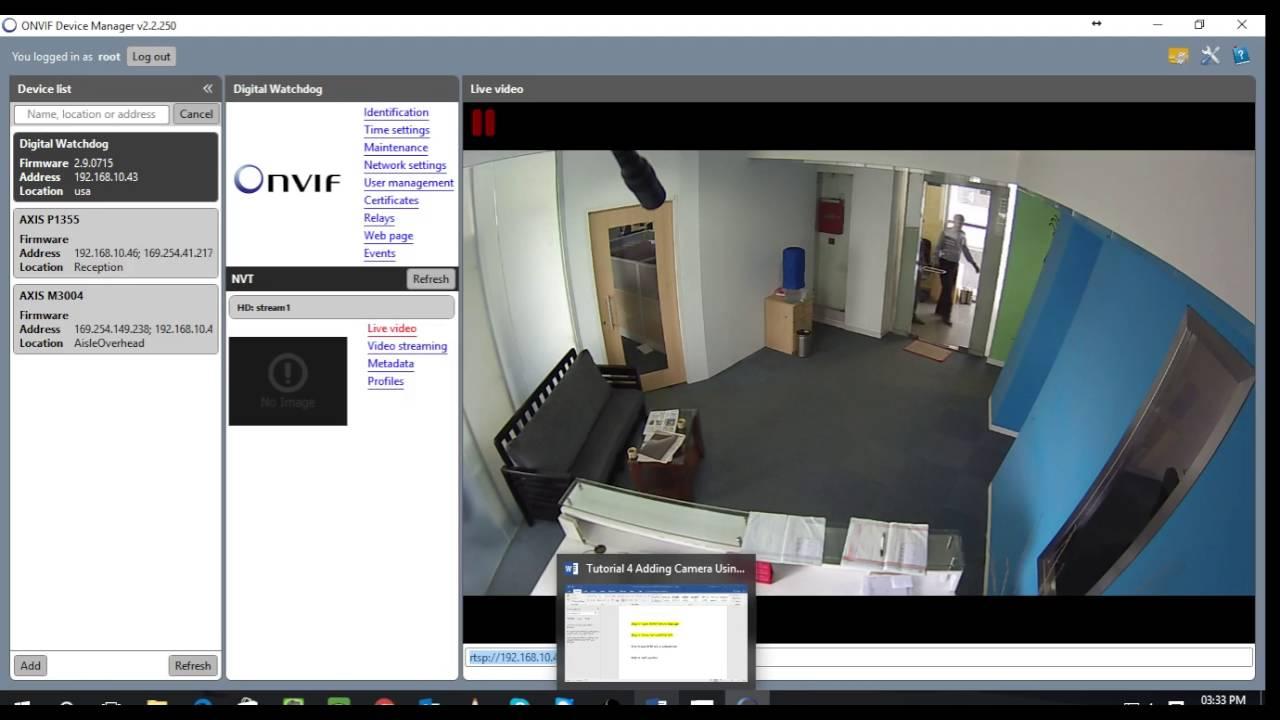 Tutorial 4 Adding Camera Using RTSP
