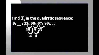 Quadratic Number Patterns