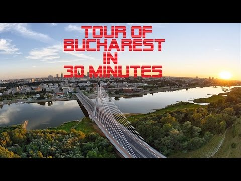 Driving in Bucharest | Tour of Bucharest in 30 minutes | Video Driving Worldwide