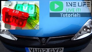 vauxhall opel corsa c - fuse box location - youtube  youtube