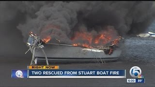 Two rescued from Stuart boat fire
